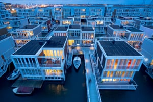 Floating homes in the IJburg section of Amsterdam.