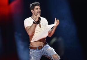 Hungary's Freddie performs 'Pioneer'