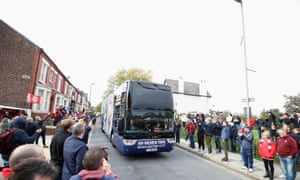 The Manchester City team bus
