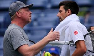 The coaching partnership between Boris Becker, left, and Novak Djokovic is at an end