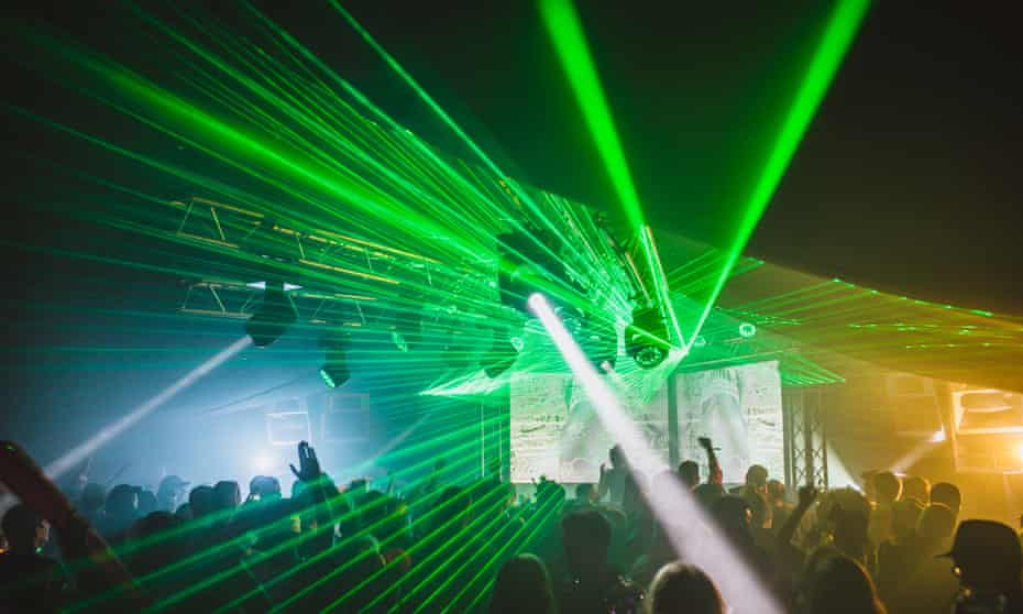 Lasers at Field Manoeuvres Festival