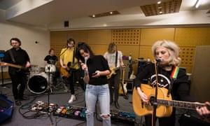 Best indies ... (from left) Sam Koisser, Dominic Boyce, Harry Koisser, Pixie Geldof, Joe Falconer and Izzy Baxter.