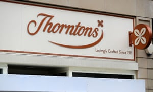 A Thorntons shop in Sheffied, South Yorkshire.
