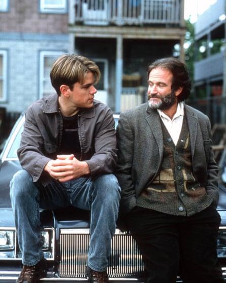 Robin Williams and Matt Damon in Good Will Hunting in 1997.
