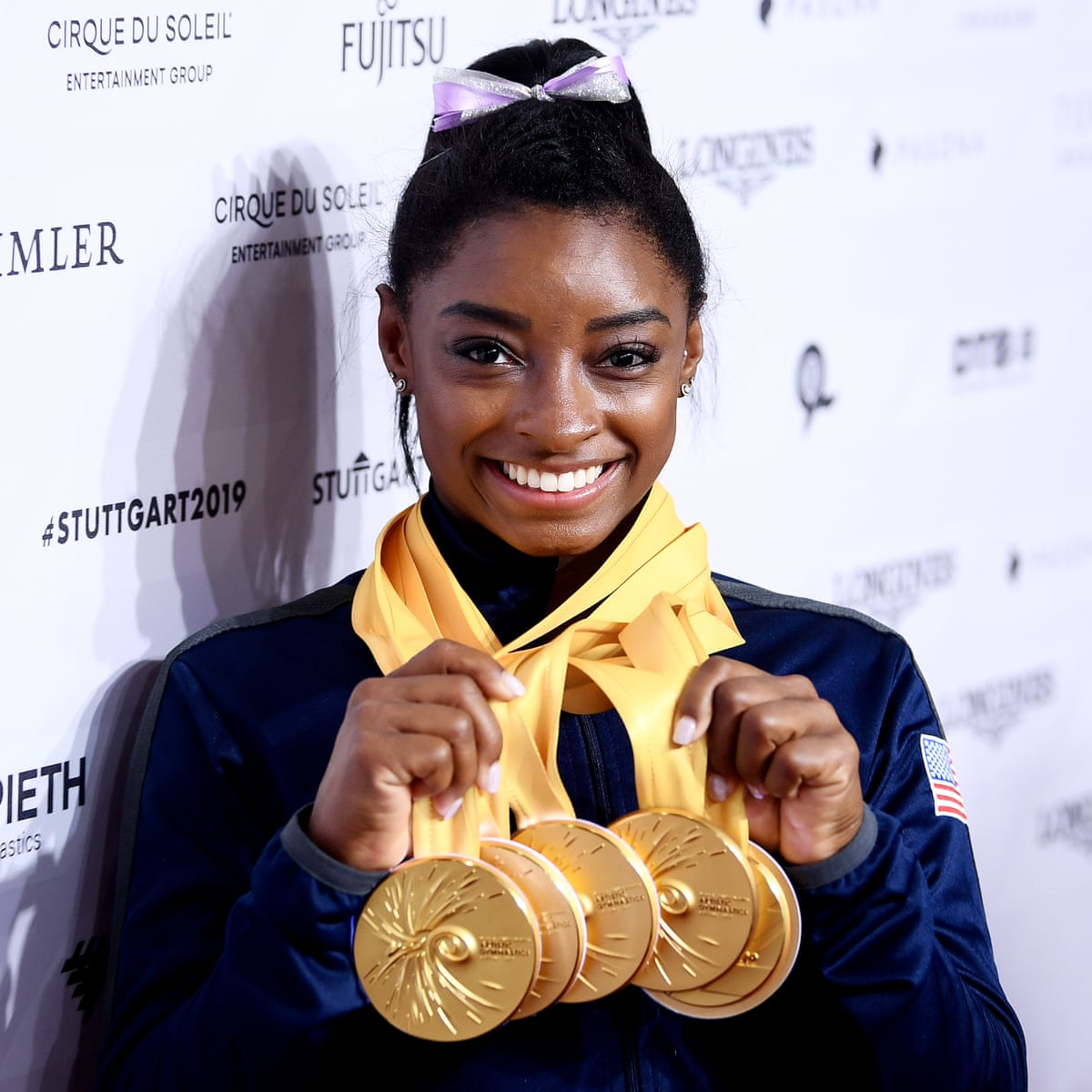 The unstoppable Simone Biles shows again her only competition is herself   Simone Biles   The Guardian