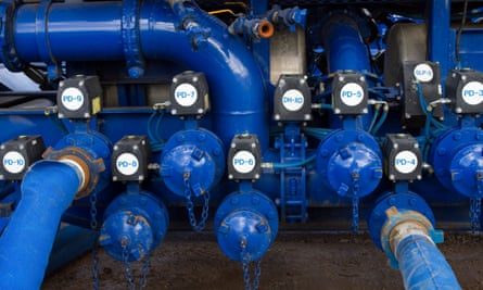 Cuadrilla Resources drilling pumping equipment at Preese Hall farm, Lancashire.