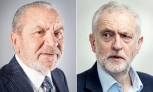 Lord Sugar and Jeremy Corbyn