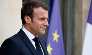 Emmanuel Macron, the French president