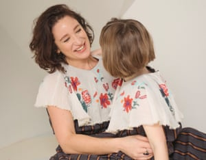 Emma Forrest and her six-year-old daughter wearing the same outfit