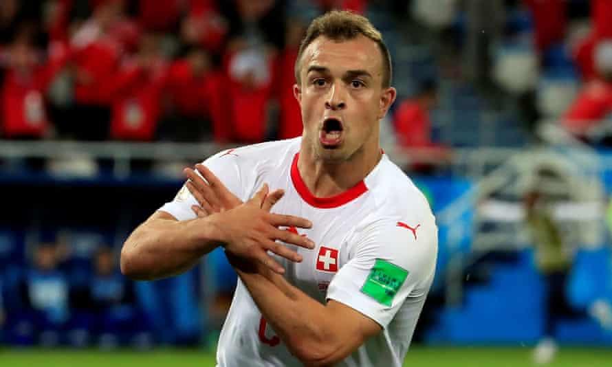 Xherdan Shaqiri's celebration against Serbia earned him a £7,600 fine.