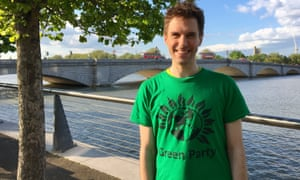 Ben Fletcher, the Green party candidate in Putney, south London, who is deafblind