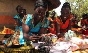 Warocho Kwan Wwawa members Aciro Grace (left) and Jennifer Atim.