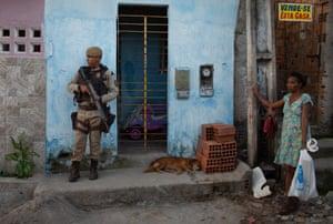 Security forces in Feira de Santana.