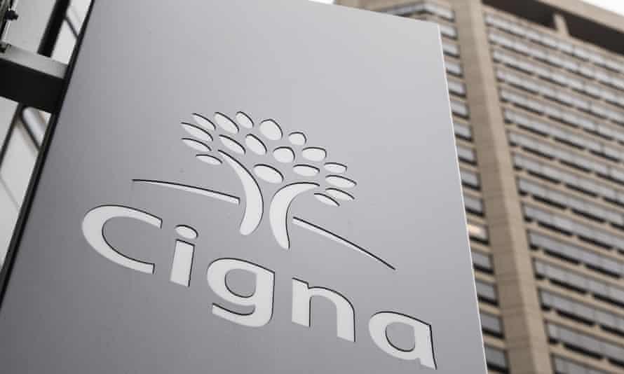 Cigna's logo adorns the front of the health insurer's headquarters in Philadelphia.