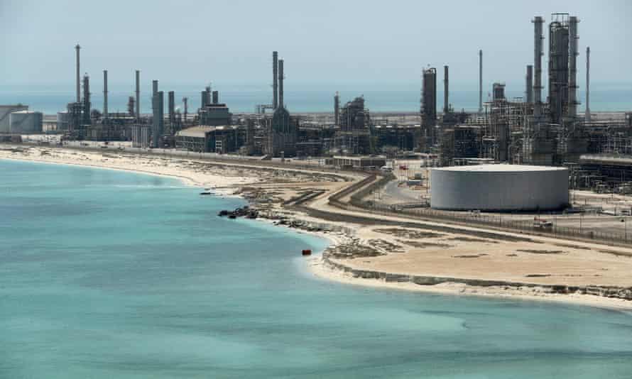 Saudi Aramco's Ras Tanura oil refinery in Saudi Arabia.