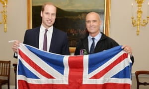 The Duke of Cambridge, left, with Henry Worsley in October 2015.