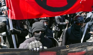 Antifa members and counterprotesters in August