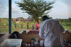 A clinic running n Mtangawanda village
