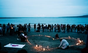 A vigil in memory of the victims of the Christchurch terror attacks in Auckland on Saturday.