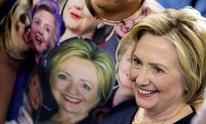 Clinton unfazed by Clinton shirt.