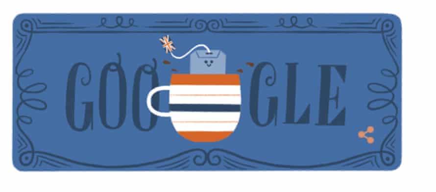 Today's Google doodle celebrates tea.