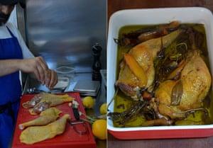 Rachel Roddy's confit chicken (pollo sott'olio).