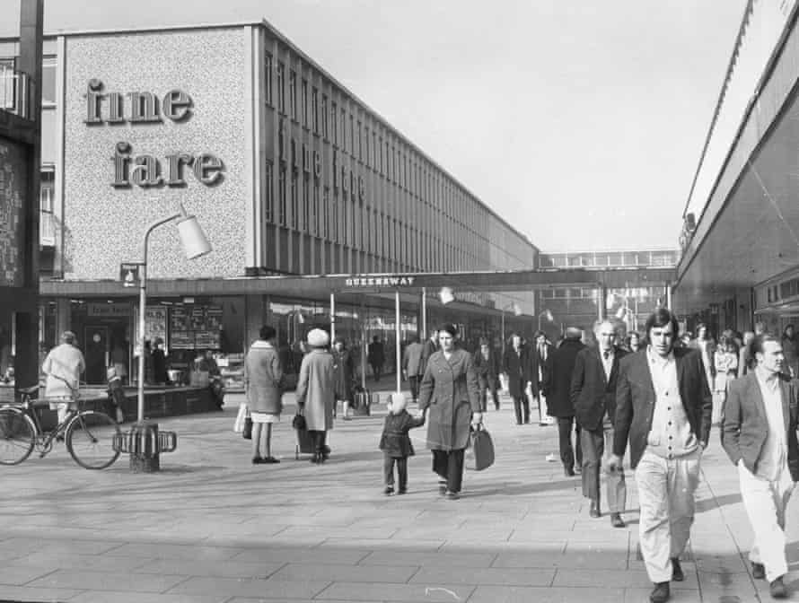 Queensway, the new shopping area designed for Stevenage.