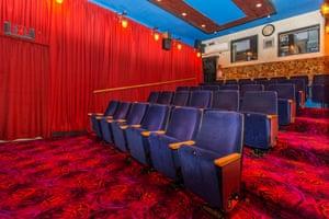 Inside John Bell's secret cinema in his Wellington backyard.
