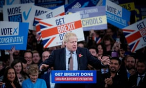 Boris Johnson speaks at the Conservative party election launch in Birmingham