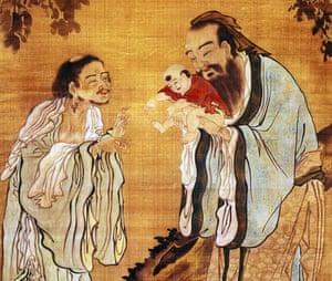 Buddha, Confucius and Laozi
