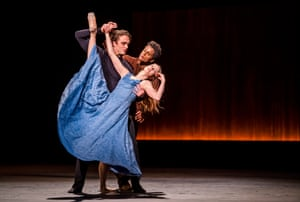 Matthew Ball (The Conductor), Marcelino Sambé (The Instrument) and Lauren Cuthbertson (The Cellist) in The Cellist by Cathy Marston at the Royal Opera House.