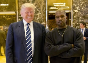 New York, USA President-elect Donald Trump and Kanye West