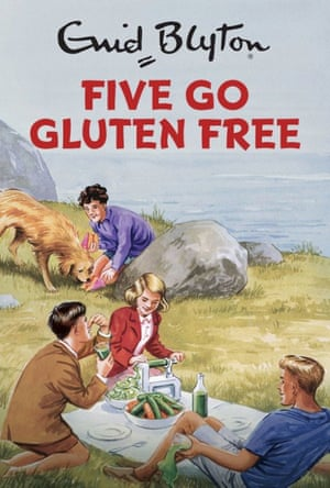The cover of Five Go Gluten Free, one of the new Famous Five parodies.