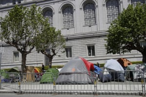 San Fracisco's shelter-in-place order left many of its homeless people with no option but to sleep on the streets.