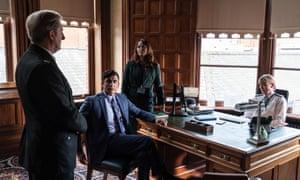 Hastings (Adrian Dunbar), Sindwhani (Ace Bhatti), Gill (Polly Walker), Wise (Elizabeth Rider)