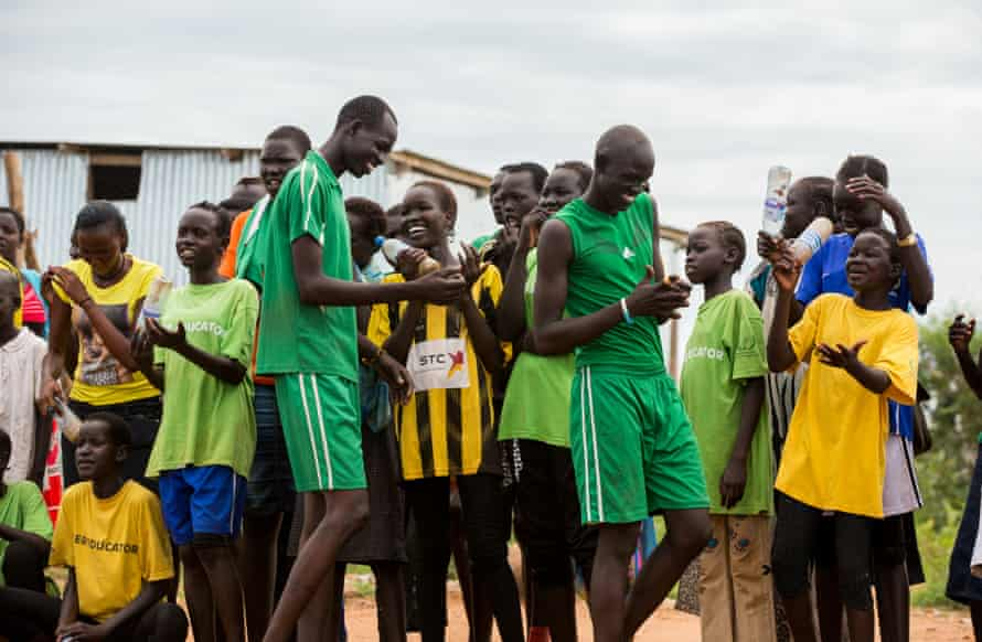 A sporting tournament in a protection of civilians site in Juba, South Sudan. Teams of residents and NGOs played football and volleyball.