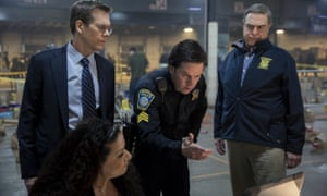 Kevin Bacon, Mark Wahlberg and John Goodman in Patriots Day.