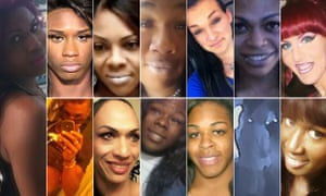Composite image of the 12 transgender people murdered in the US in 2015 up to 14 August