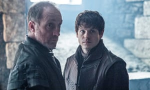 Michael McElhatton as Roose Bolton and Iwan Rheon as Ramsay Bolton. Roose makes 'cruel decisions for entirely pragmatic reasons'.