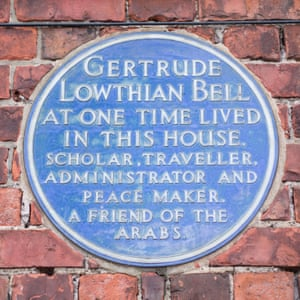 A blue plaque at Red Barns