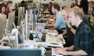 The Guardian newsroom