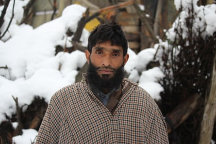 Qasim Doi, a resident of Mammal Wooder, South Kashmir, who received a notice of eviction.
