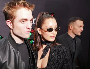 Robert Pattinson and Bella Hadid at the Dior Homme show in the Grand Palais in Paris.