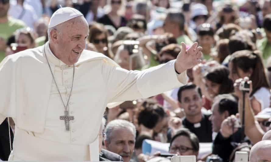 Pope Francis tells his weekly general audience in St Peter's Square: 'This home of ours is being ruined'.