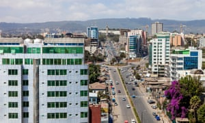 Elevated views of Churchill Avenue and Addis Ababa