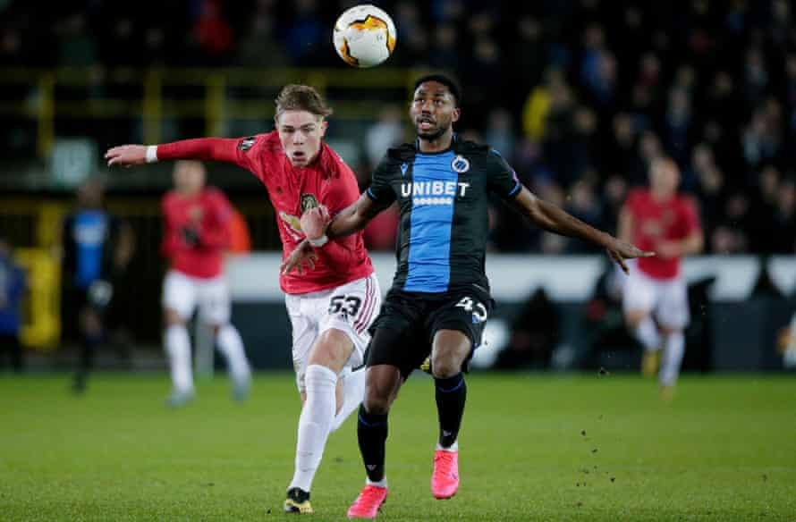 Emmanuel Bonaventure outpaced Brandon Williams to give Club Brugge the lead from a Simon Mignolet pass.
