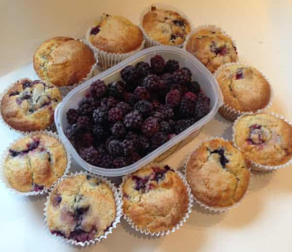 Suzie Davis's Aunt June's blackberry muffins