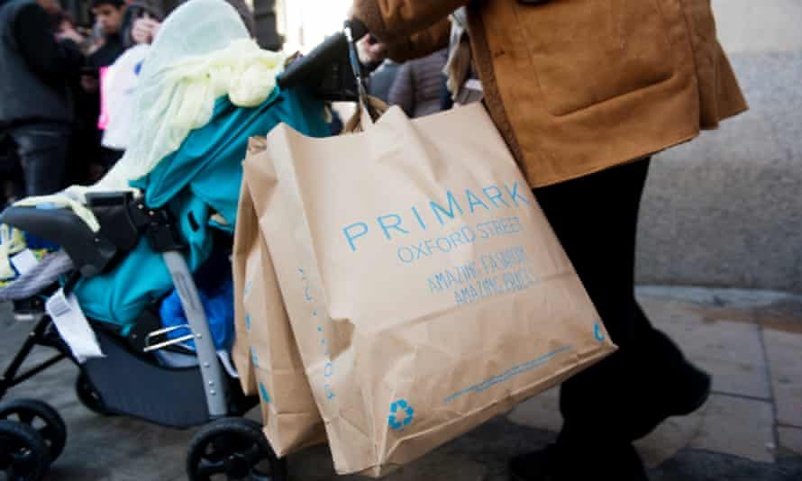 Shopper with Primark bags