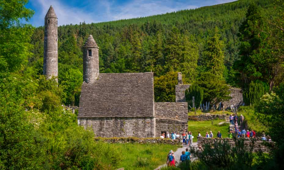 Glendalough medieval monastic settlement, on the Wicklow Way.