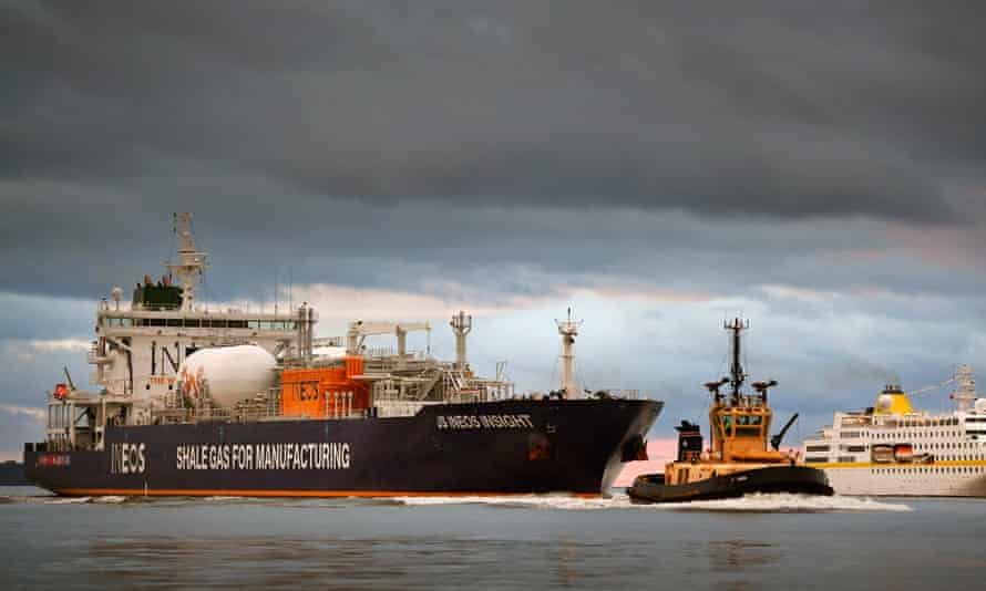The first ship carrying shale gas from the US arrives in Scotland.